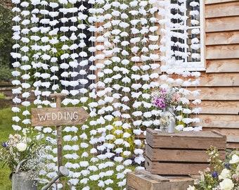 White Wedding Floral Back Drop // Flower Wall// Wedding Reception Decoration // Wedding Backdrop //Photo Booth Backdrop //Photo Props//Bride