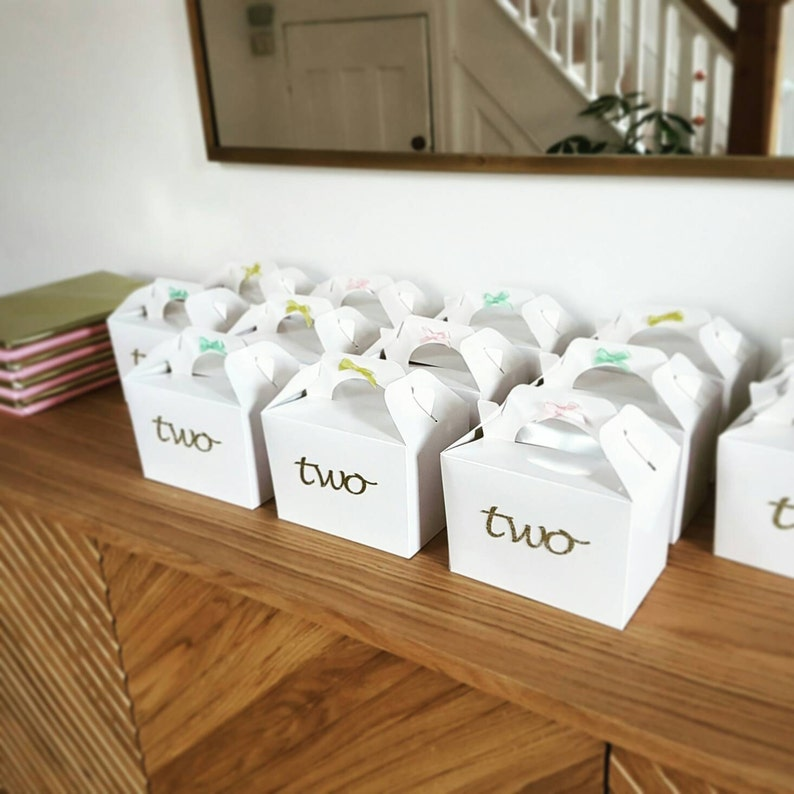 Personalised party box Customized party favour Party bag Party favour First birthday party box. First birthday party bags Party box