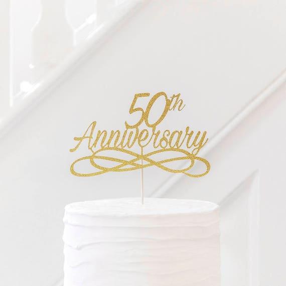 Jubilaum Kuchen Deckel Goldene Hochzeit Tisch Dekoration Etsy
