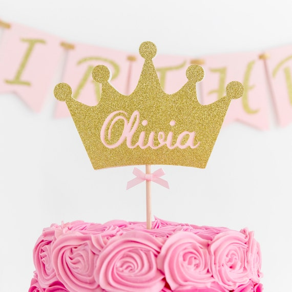 Crown Cake Topper Birthday Party Decoration Princess
