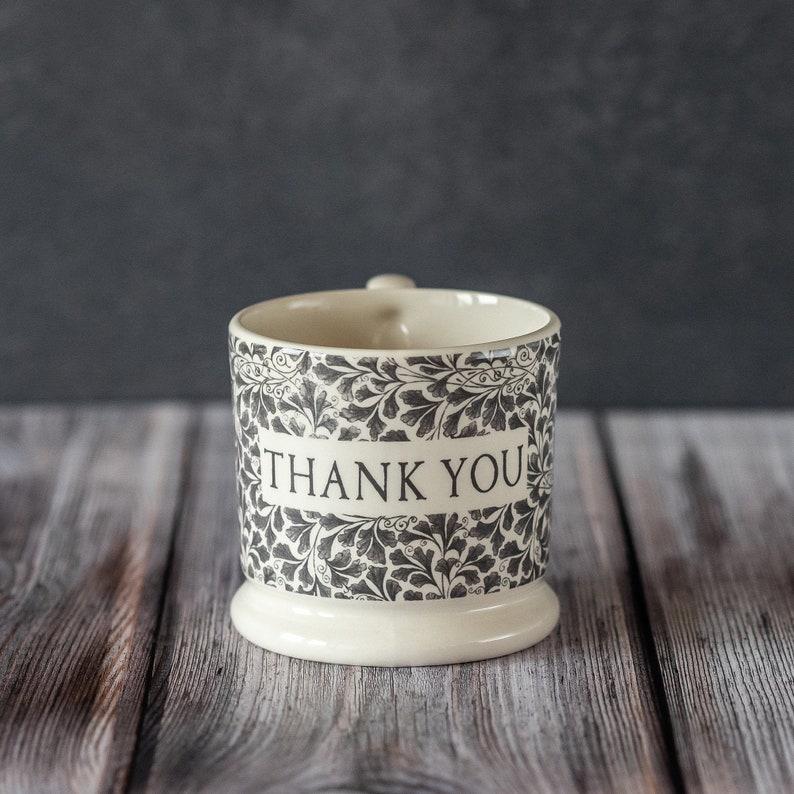 Thank You Mug half-pint size creamware made in the UK image 0