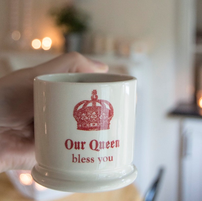 Queen Espresso Mug. Our Queen Bless You Coffee Cup. Royal image 0