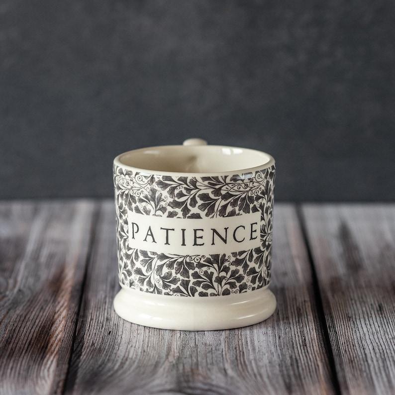 Patience Half Pint Creamware Mug made in the UK. Give a gift image 0