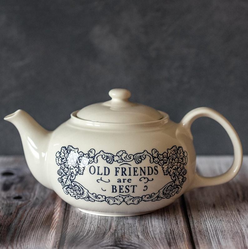 English Teapot. Earthenware Ceramic Teapot. Teapot With image 0