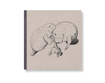 SKIZZENBUCH *Manatees*, 17 x 17 cm, 144 Seiten