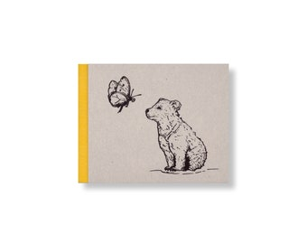 SKETCHBOOK *Bear cub with butterfly*, 15 x 12 cm, 144 pages