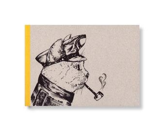 SKIZZENBUCH *Käptn Katze*, DIN A5 quer, 144 Seiten