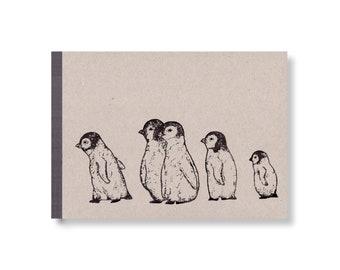 SKIZZENBUCH *Pinguinkinder*, DIN A5 quer, 144 Seiten