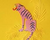 Illustration Tiger paper ...