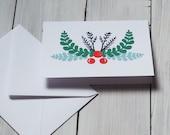 Holly Christmas card...