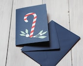 candy cane Christmas card...
