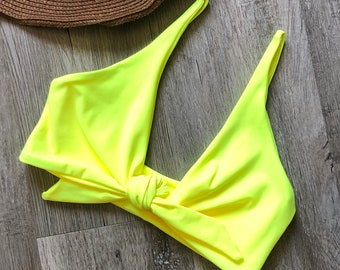 Tie Front, Bikini Top, Handmade, Swimwear