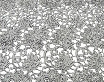 Lace macrame viscose floral pattern grey festoons (2002) 4101acbd50