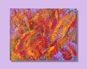 11x14 Modern abstract Original abstract acrylic painting Colorful abstract Unique bold exciting red purple yellow abstract by RKMJ Creations