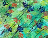 Handmade floral abstract ...