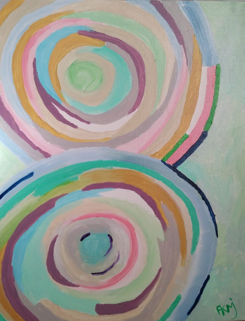 Original abstract Bold bright abstract 16x20 Colorful abstract image 0