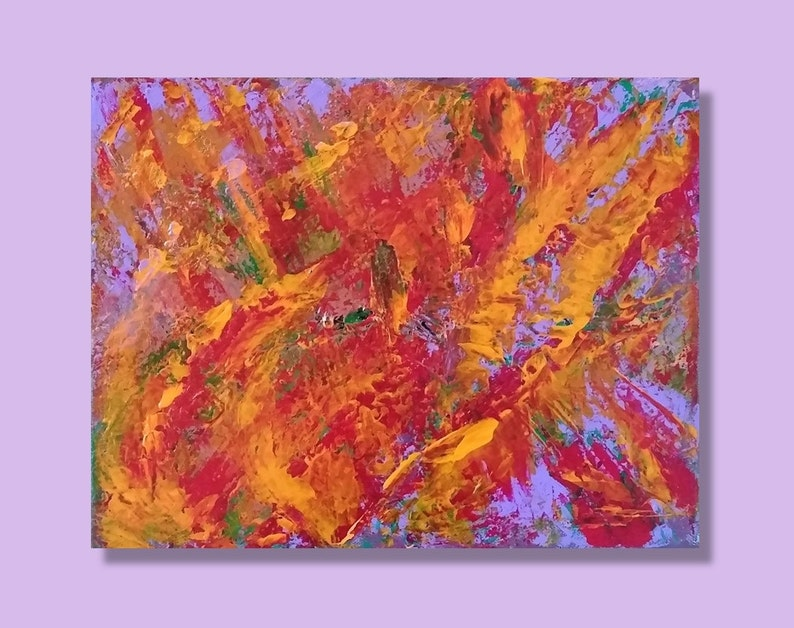 11x14 Modern abstract Original abstract acrylic painting image 0