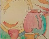 Original tea pot still li...