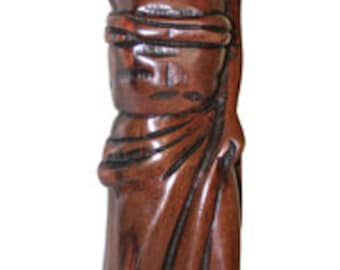 African Wooden Figurine, Traditional Lady,with Baby Solid Wood Ornament