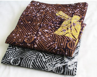 African Batik Fabric by the Yard, Ghanaian Fabric, Traditional Hornblower Print,, for Clothing Interiors, Quilting, Crafts, and more
