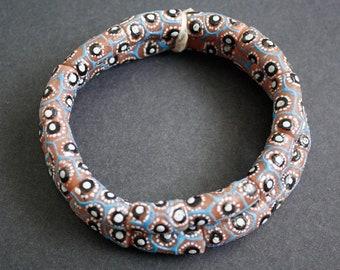11 Pretty African Tubes Beads, Handmade Recycled Glass from Ghana's Krobo, 20-25 mm, One Strand