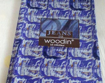 Woodin African Fabric, Purple Authentic Ghana Cotton Print, For Sewing, Crafts, Quilts, Head Wraps and More, 4 Yard Bundle