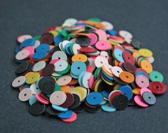 8 mm African Vinyl Beads, Vulcanite Heishi Discs,Multiple Colours, 28 grams,