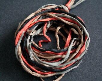 Habotai Silk Cord, 3 mm Diameter,  Naturally Soft,  3 Colours,  'Second Skin' For Jewelry, Jewellery, Pre-Cut, 4 Pieces