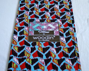 African Fabric by the Yard, Woodin Brand, Authentic Ghanaian Cotton Print, For Sewing, Crafts, Quilts, Head Wraps and More, Striking Design