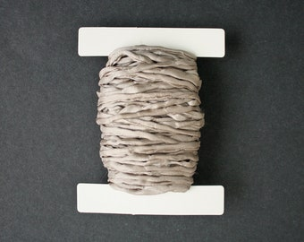 Beige Habotai Silk Cord, 3 mm Diameter,  Naturally Soft,  'Second Skin' For Jewelry, Jewellery, Pre-Cut
