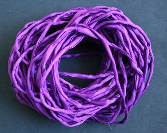 Habotai Silk Cord, 3 mm Diameter,  Amethyst, Naturally Soft,  'Second Skin' For Jewelry, Jewellery, Pre-Cut