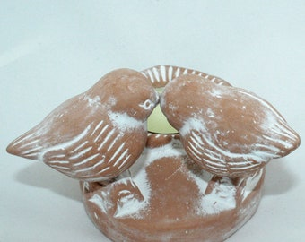 Love Birds Tea Light Holder