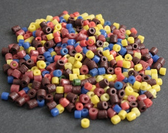 Mixed Lot African Seed Beads, Ghana Recycled Glass, 3-5 mm, for Jewelry Jewellery and Crafts, 18 g Pack