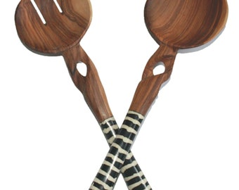 Olive Wood Salad Servers, Fair Trade Gift Idea, Handcrafted