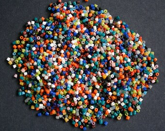 African Seed Beads,  Mixed Colours 3 mm, 6g Pack (26 inch Strand)