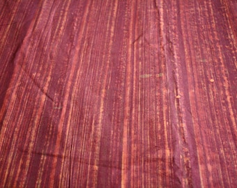 African Batik Fabric, Ethnic Ghana Cotton, Hand-dyed,  Preshrunk  Reds/ Orange, Discounted Price, Nearly 4 Yards