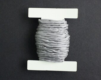 Habotai Silk Cord, 3 mm Diameter, Grey Naturally Soft,  'Second Skin' For Jewelry, Jewellery, Pre-Cut