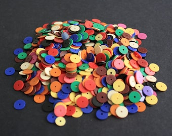 African Vinyl Beads Vulcanite Heishi Disc Spacers Mixed Lot for Beading and Crafts, 8mm/6mm/3mm