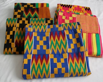 Kente Fabric Handwoven Authentic Ghana, African Cloth Wedding & Occasion Wear, Cotton, Fathia Design, 1 Piece/3 Pieces, Clothing/Interiors