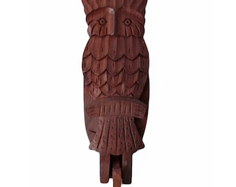 Owl Coat or Wall Hook. Solid Wood