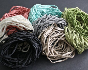 Habotai Silk Cord, Griffin Brand, 3mm Diameter, Naturally Soft, 'Second Skin' For Jewelry, Jewellery, Pre-Cut, 8 Colour Options