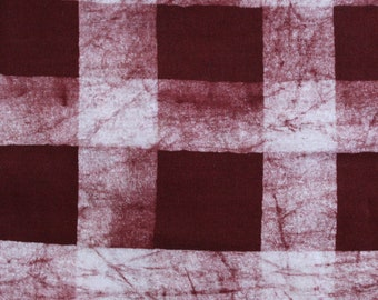 African Fabric by the Yard, Authentic Ethnic Ghana Cotton Print, Red/ White for Sewing, Crafts, Headwraps, Quilts and More