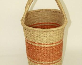 Handwoven Straw Basket, from Ghana's Bolga