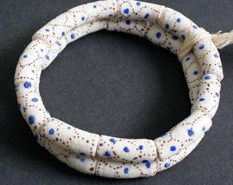 White African Beads, Ghana Krobo Recycled Glass, 20-25 mm, I strand of 11