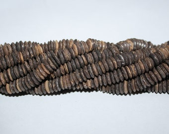Coconut Beads Donut Doughnut 7mm/ 11 mm, Full Strand Approx 16 inches, for Jewelry Jewellery and Crafts