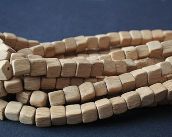 Wooden Cube Beads 10mm from Peru, for Beading and Crafts pack of 40/78