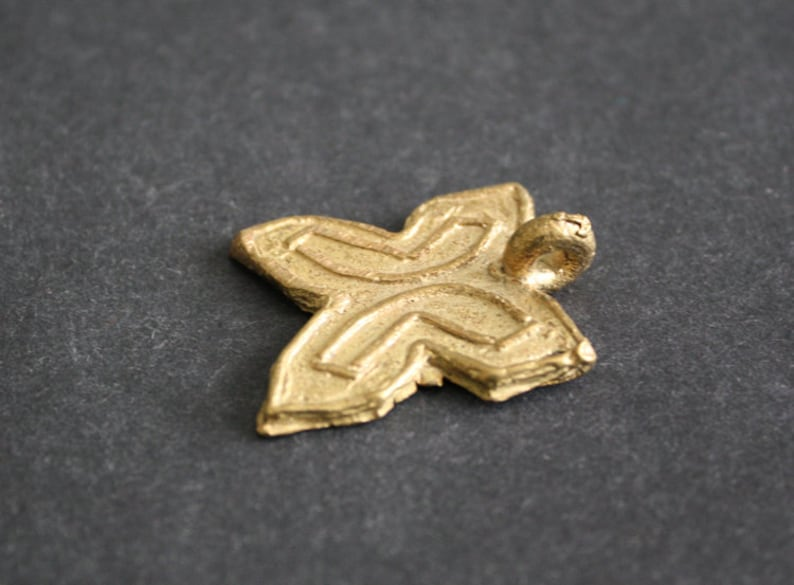 Fawohodie for Jewelry and Crafts 3056mm Independence Symbol Brass Pendant Adinkra* Handmade Ethnic Craft