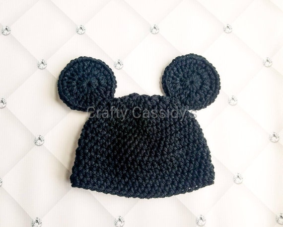 Mickey mouse hat baby and child size mickey crochet mickey  9161b2e9ee9
