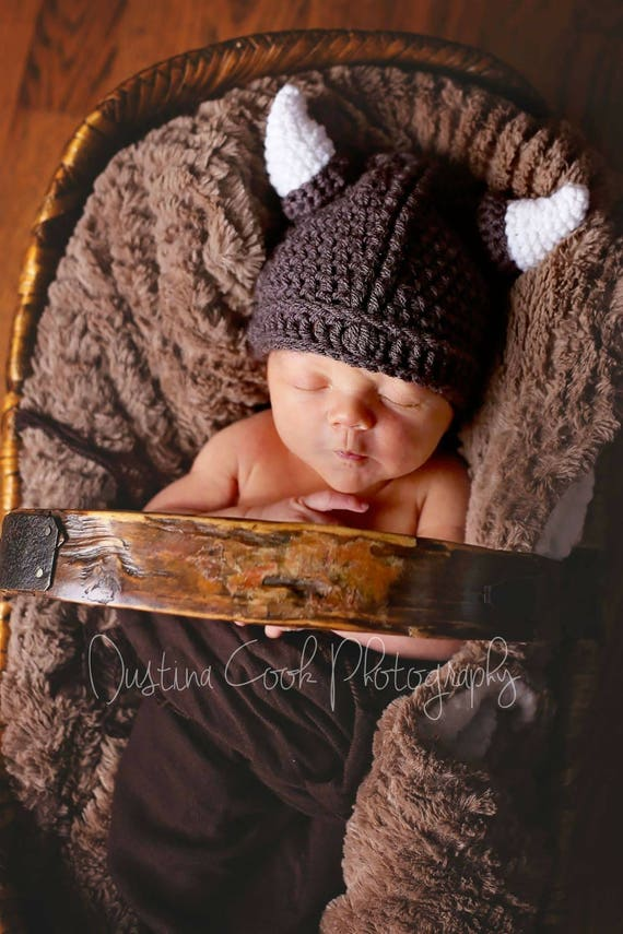 7956a2679169f Baby Viking Hat crochet Newborn viking hat kids Viking hat