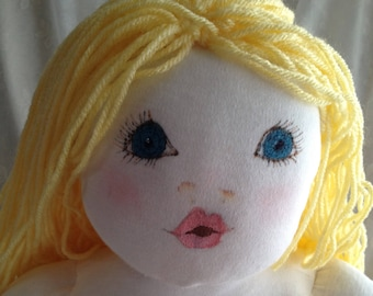 """BABY DOLL;most huggable doll ever, hand painted face, hand sculpted body, cutest """"BUTT"""" ever, hand washable,"""